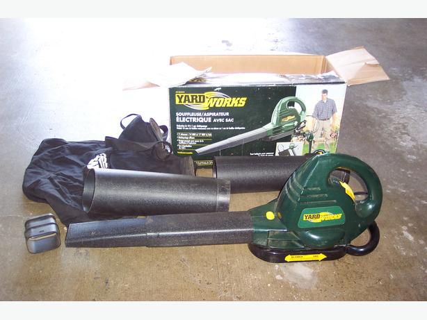 Yardworks Electric Leaf Blower/Vacuum with bag