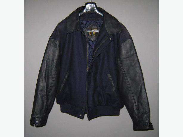 New Large Amanati Leather / Wool Bomber Jacket