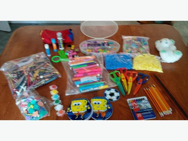 Big Collection of Crafts for Kids, beads, markers, crayons, scissors, etc