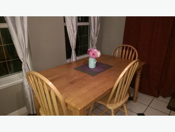 Solid Wood Dining Table with Bench