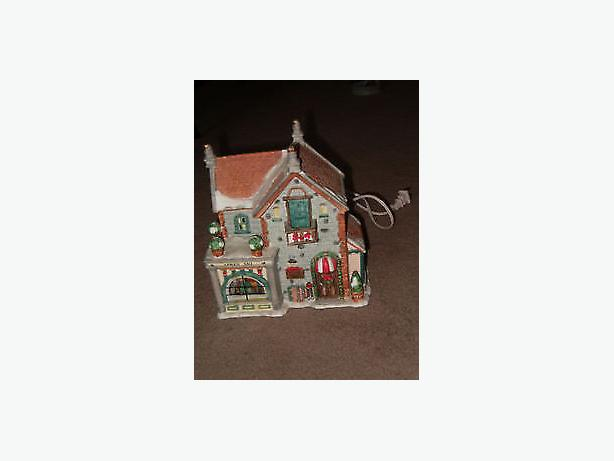 light, winter or Christmas , village house ceramic building
