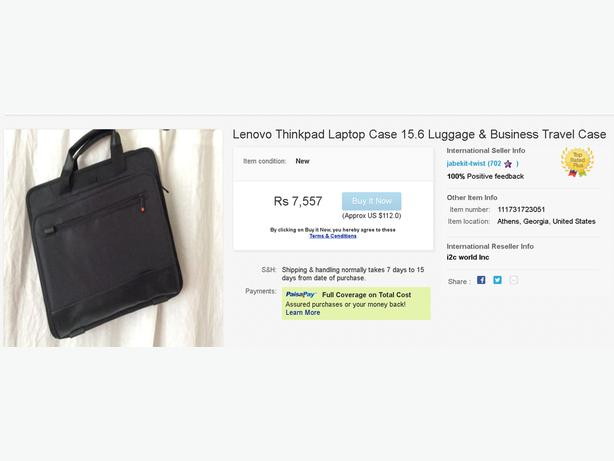 "Lenovo Thinkpad 15.4"" Business Notebook Case Model 43R2476"