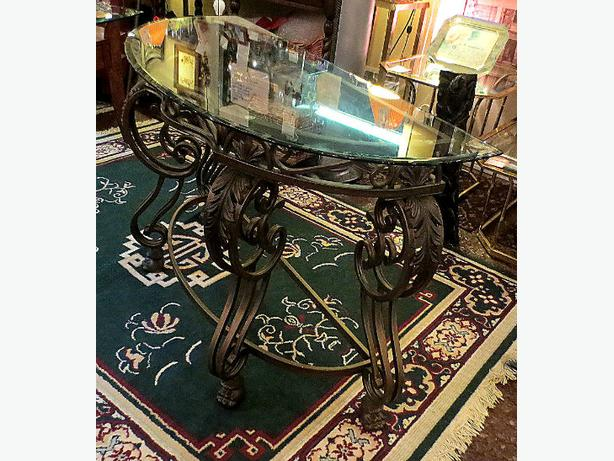 Wrought Iron Sofa Table– Visa, MCard, Delivery Available