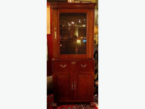 * Mahogany Display Cabinet– Visa, MCard, Delivery