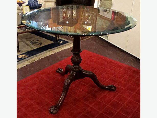 Carved Mahogany Dining Table - MCard,Visa, Delivery Available