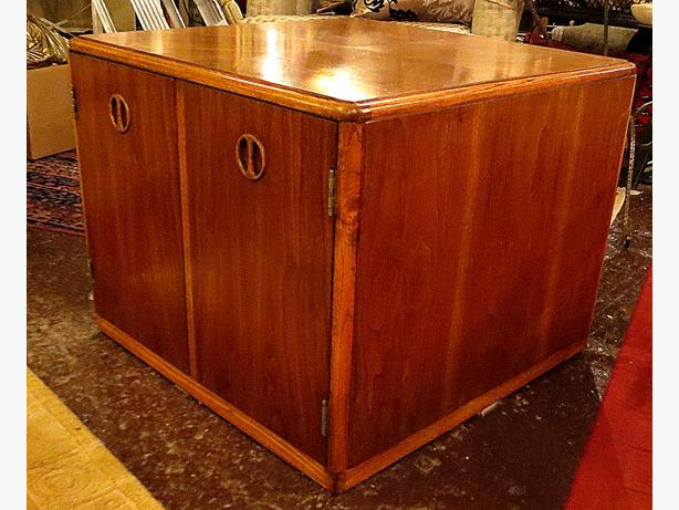 *Mid Century Walnut Cube Cabinet– Visa, MCard, Delivery