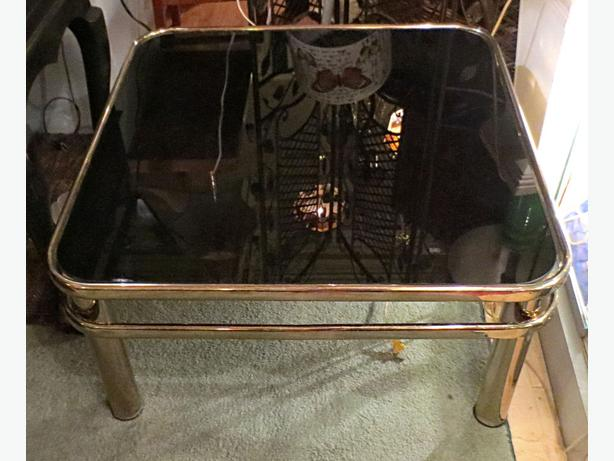 Gold Square Metal Coffee Table- Visa/MCard Available