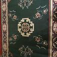 **Green Asian Design Carpet - MCard,Visa, Delivery