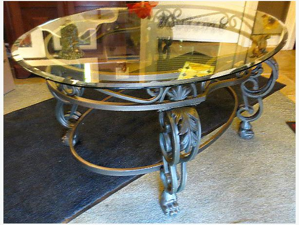 Wrought Iron Coffee Table – Visa, MCard, Delivery Available