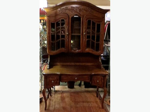 * Fruitwood Cabinet – Visa, MCard, Delivery Available
