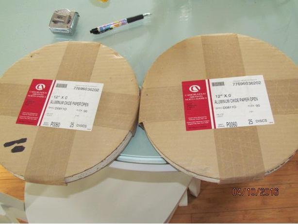 50 New in Pkg 12 inch Aluminum Oxide Sanding Discs