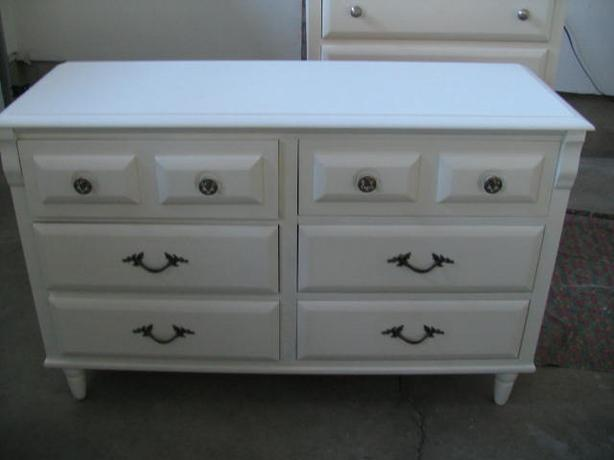 Dresser Retro - 6 drawer maple wood