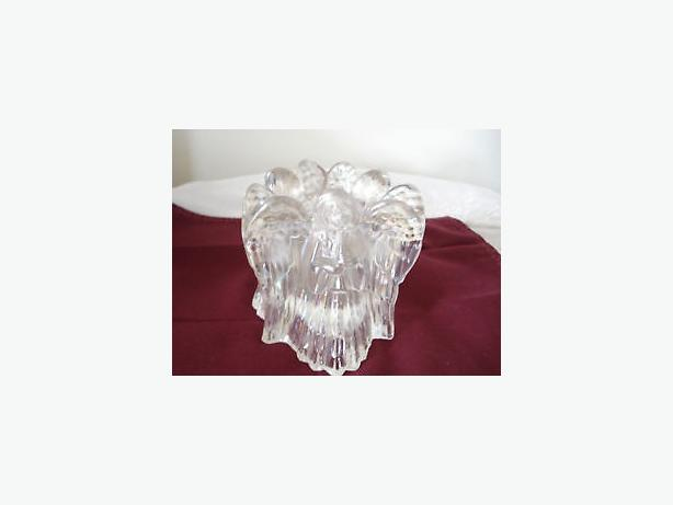 angles Iridescent crystal votive candle-holder, vintage