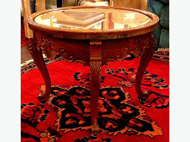 Hand Carved Walnut Table- MCard, Visa, Delivery Available