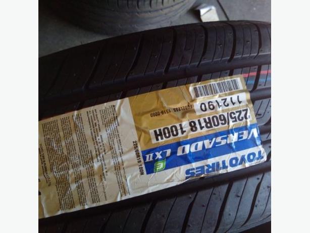 NEW 225/60/R18 Toyo Versado All Season tires– CRV/ RAV4/ Journey
