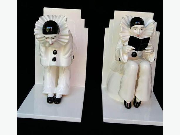 Beautiful Collectable set of SIGMA  Tastesetter Bookends of Pierrotss