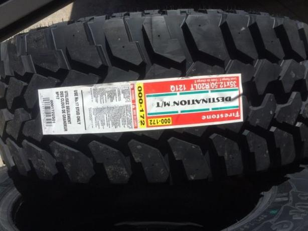BrandNew LT 35x12.50/R20 Firestone Destination Mud Terrain tires