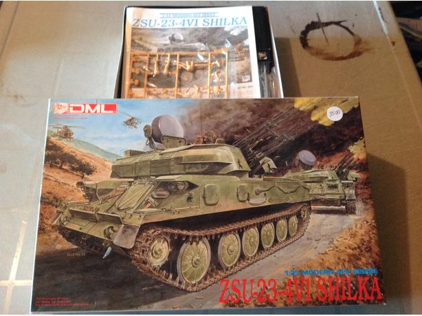 DML Dragon ZSU-23-4V1 Shilka Air Defence System 1/35 scale model kit