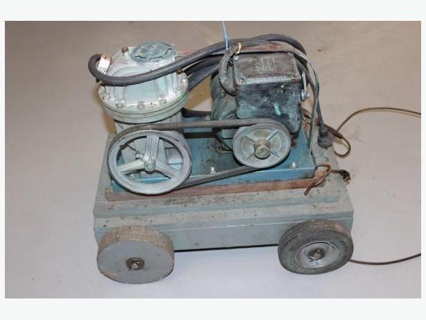 older air compressor on trolley