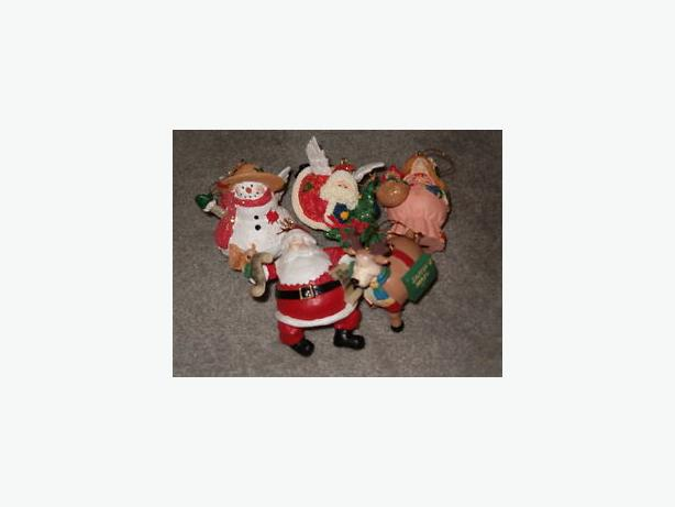 ornament ,Santa , rain-deer , two angels , snowman