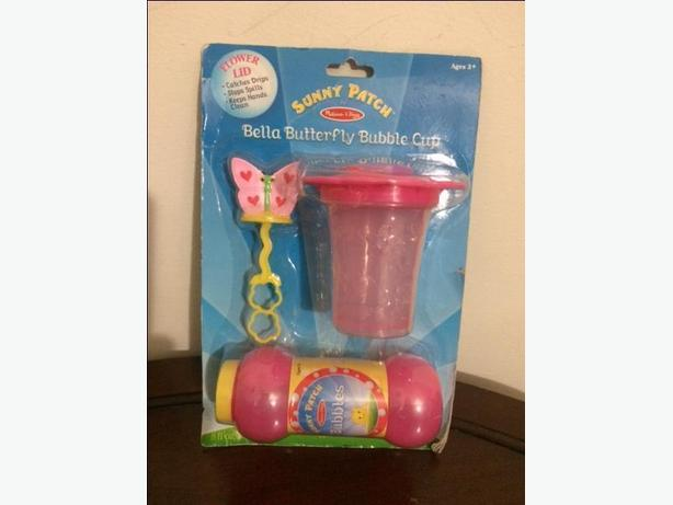 Bella Butterfly Mini Bubble Cup - Pink & Green in Color