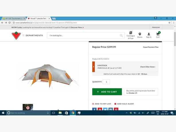 Woods Lakeside 10 Man Tent