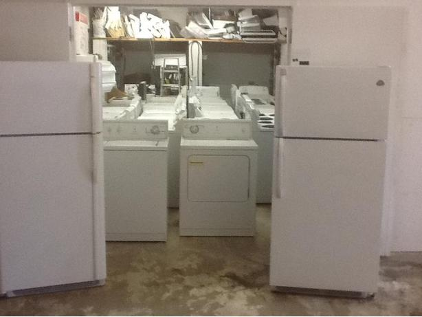 Washers dryers stoves fridges dishwashers microwaves freezers