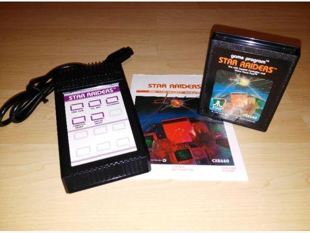 Star Raiders For The Atari 2600 With Controller, Overlay, Manual