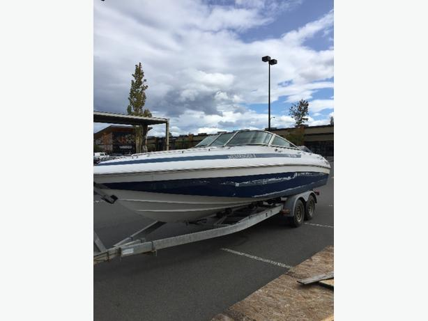 1990 cobalt 26' with 454 bravo and galvinized trailer