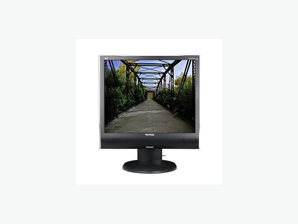 "Viewsonic 19"" standard sized LCD computer Screen with speakers"