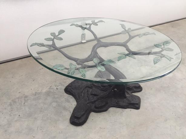 Ornate brass table