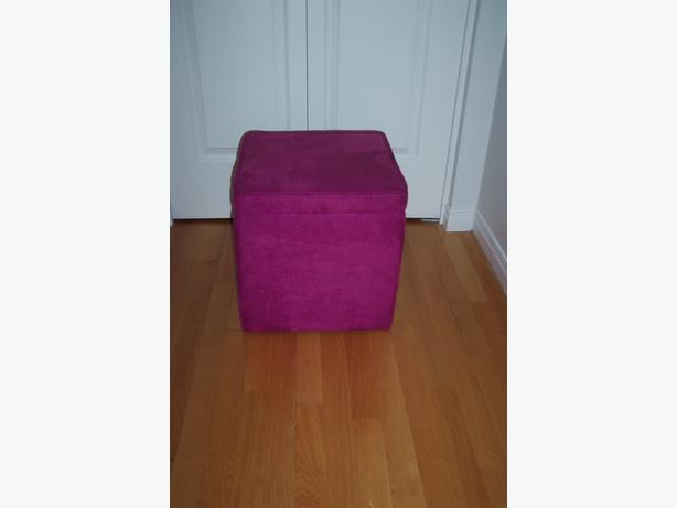 Storage Ottoman (pink)