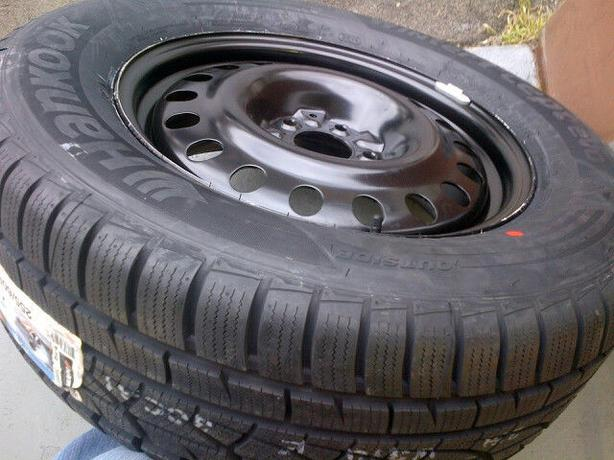 NEW 235/60R16 Hankook Winters + rims(5x127)– Caravan/Journey