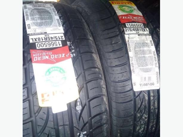 Four brand new 215/45/R18 Pirelli P-Zero Nero A/S tires!!!!