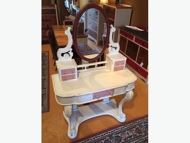 upcycled antique vanity $275