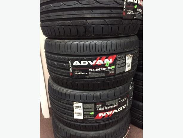 NEW 245/30/R19 Yokohama Advan Sport tires – RARE SIZE!!