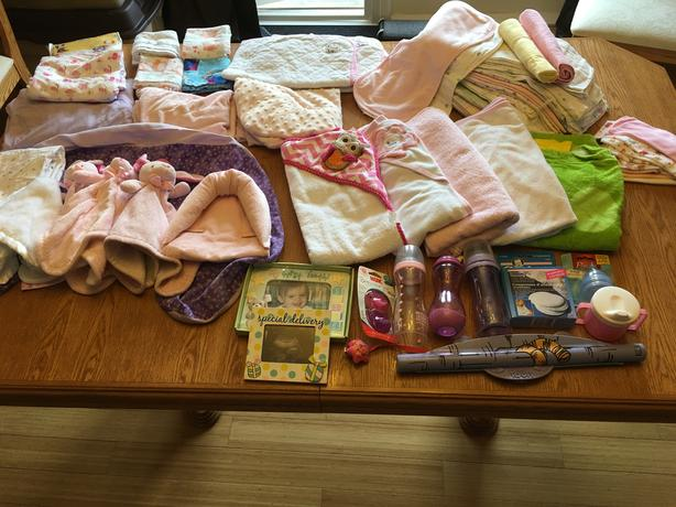 MAKE OFFER VERY LARGE Girls baby lot of accessories clothes pump