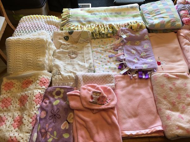 MAKE OFFER Assorted Baby Children Newborn Blankets Knit Crochete