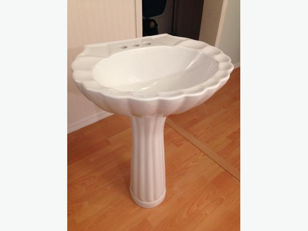 Foremost European Style Pedestal Sink, Like New *Now Reduced to $50*