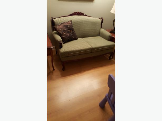 Vintage settee and matching armchairs
