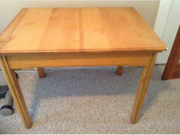 Pine kitchen table with four chairs