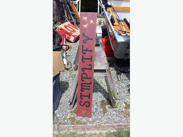 Country hand painted sign