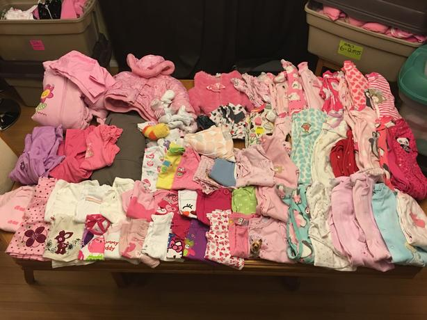 MAKE OFFER VERY LARGE Girls 18 month + baby children clothes lot
