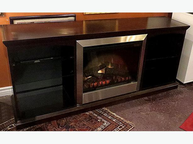 Mahogany Fireplace– Visa, MCard, Delivery Available