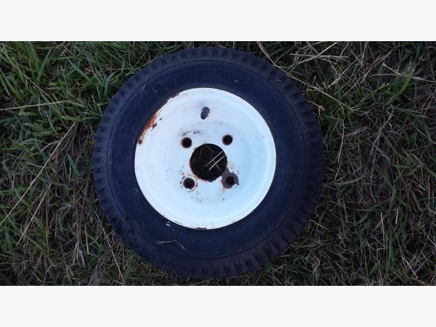 8 inch utility rim and tire