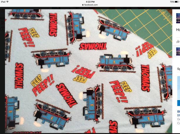 New Thomas Train Flannel