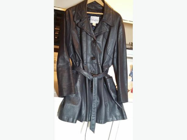 Reduced from $40 - Navy Leather Jacket