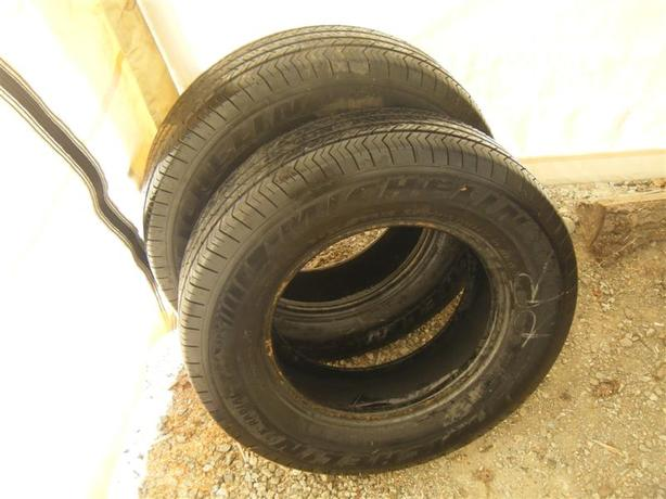 pair of michelin snow tires