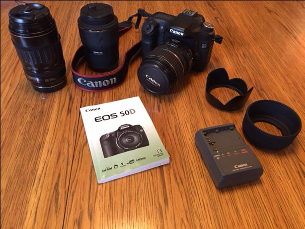 CANON 50D, LENSES AND ACCESSORIES