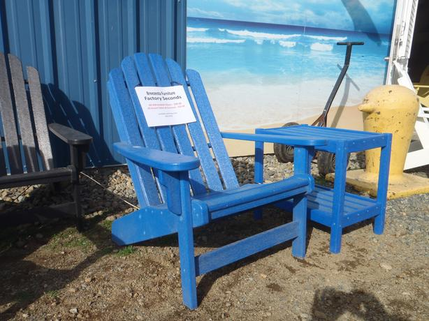 ADIRONDACK CHAIRS, TABLES & FOOTSTOOL POLY FURNITURE ***FACTORY SECONDS***